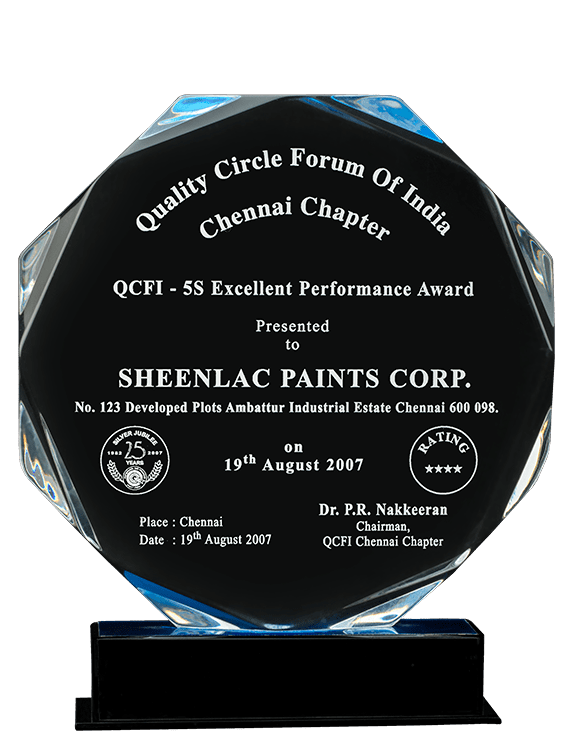 Quality Cricle Forum of India 2007 Award