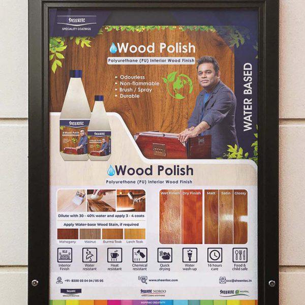 Water Based Wood Polish Frame