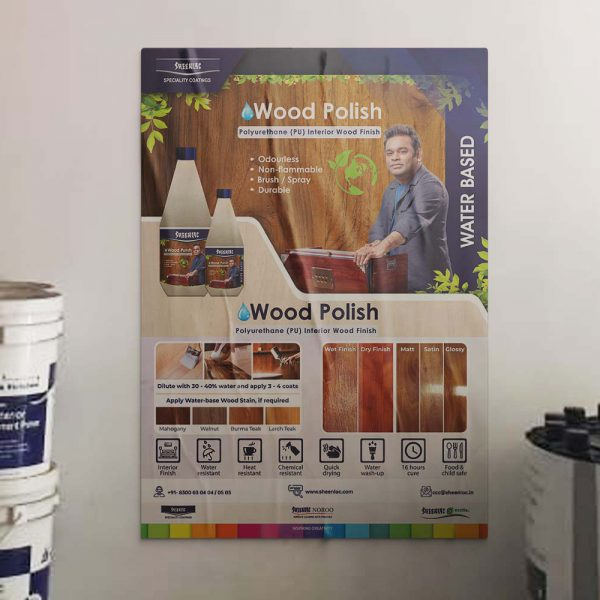 Water Based Wood Polish Poster